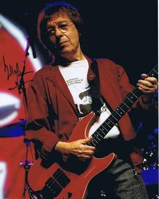 Bill Wyman Autograph colour photo The Rolling Stones