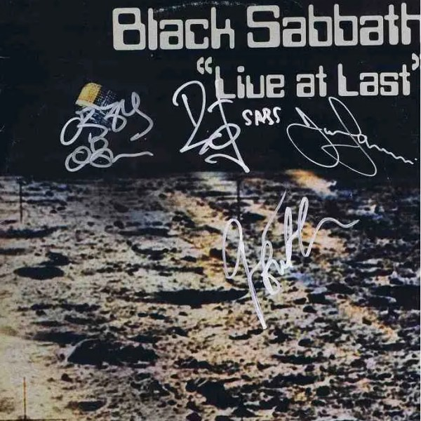 Black Sabbath Autographed Live At Last Lp w/Ozzy Osbourne