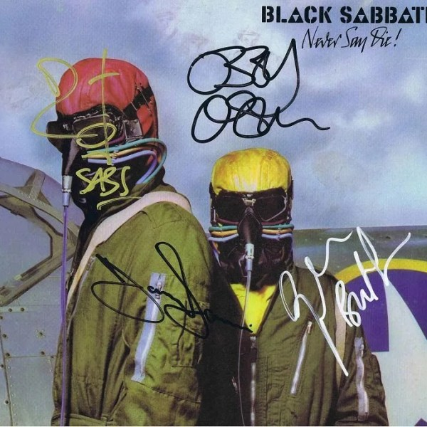 Black Sabbath Autographs Never Say Die Lp