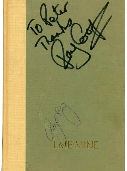 George Harrison [The Beatles] Autograph I ME MINE