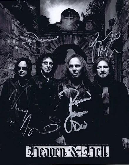 Black Sabbath / Heaven and Hell autographs 8×10 photo