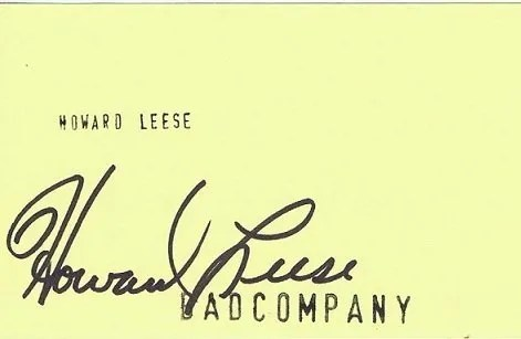 Howard Leese Autograph Bad Company – UACC Registered Dealers