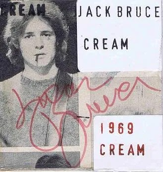 Cream Autographs Eric Clapton, Ginger Baker and Jack Bruce