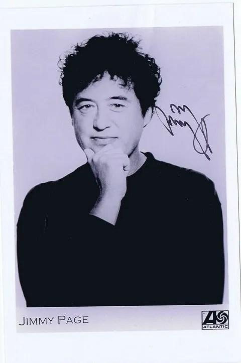 Jimmy Page Autograph promotional photo Led Zeppelin