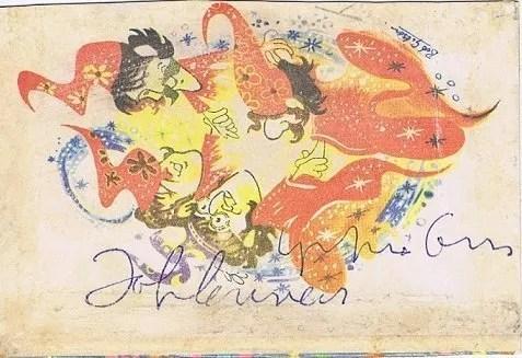 John Lennon and Yoko Ono autographs The Beatles