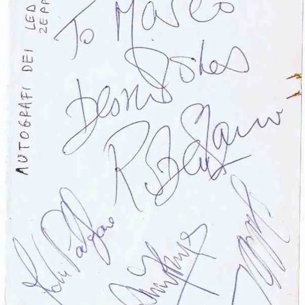 Led Zeppelin Autograph for sale | John Bonham