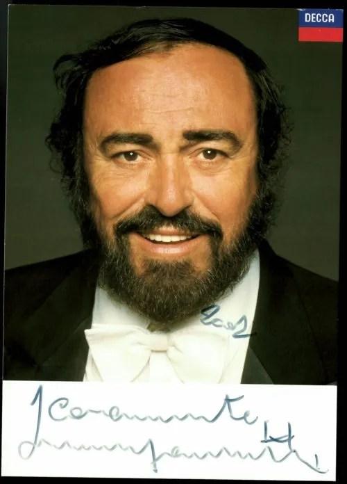 Luciano Pavarotti Autograph promo 2002