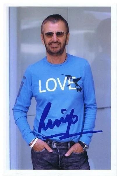 Ringo Starr The Beatles Autograph   The Beatles Autographs