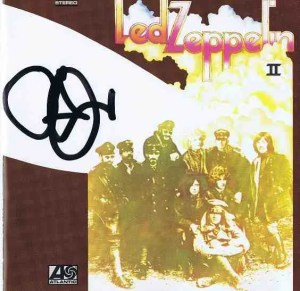 Robert Plant autograph Led Zeppelin 2 CD cover