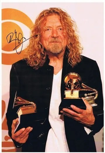 Robert Plant Autograph photo Led Zeppelin – Autographs