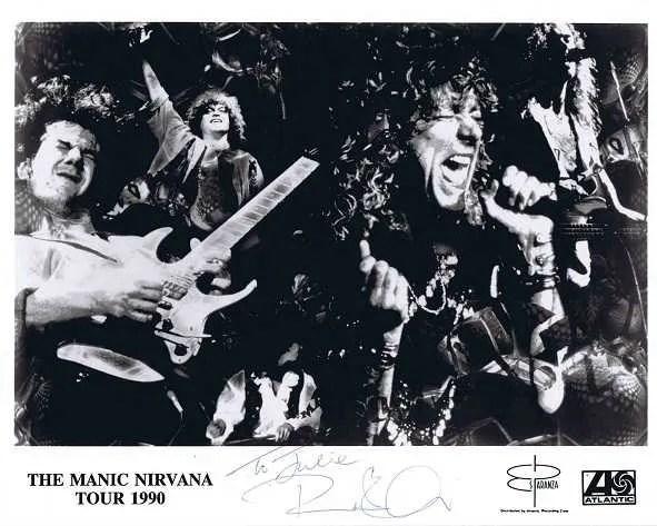 Robert Plant Autograph Led Zeppelin 1990