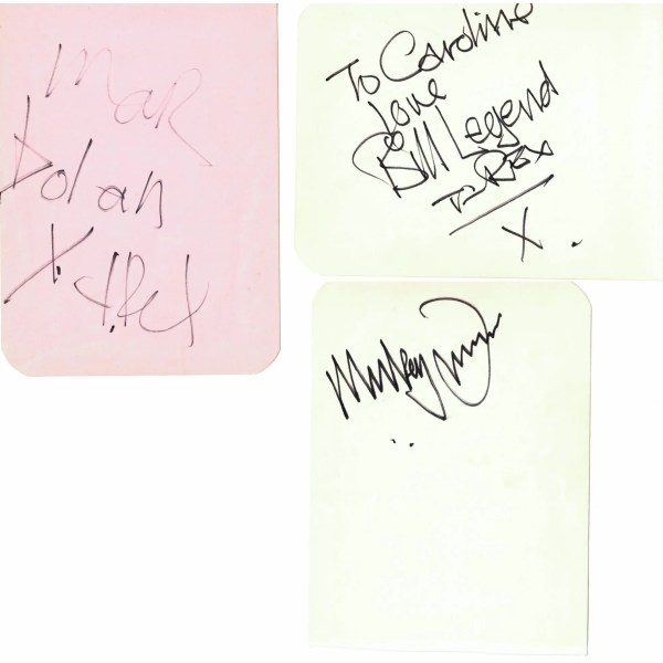 T-Rex Autographs including Marc Bolan