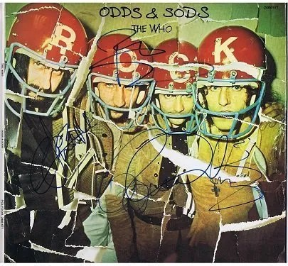 The Who Odds and Sods Autograph Lp