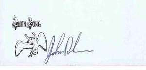 John Bonham autograph led zeppelin 11