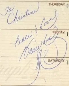 bruce lee authentic autograph example
