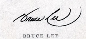 Bruce Lee signed contract