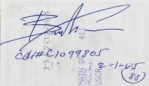 Brandon Lee autographs and autograph examples   Bruce Lee