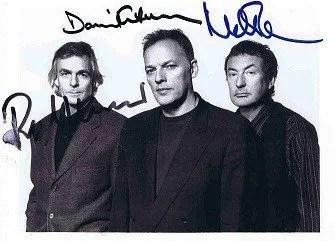 David Gilmour Nick Mason Richard Wright Autographs Pink Floyd