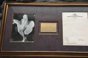 Marilyn Monroe autograph contract