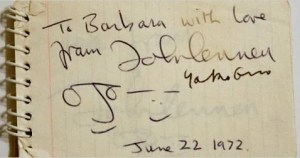 John Lennon Autographs and autograph examples The Beatles