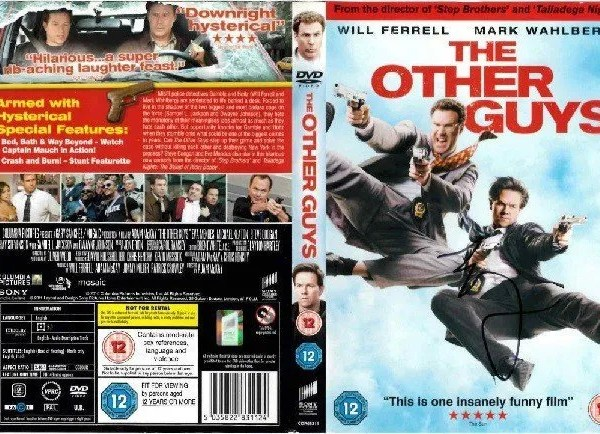 Mark Wahlberg Autograph The Other Guys DVD Cover