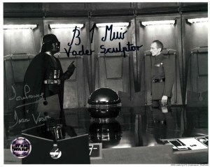 Dave Prowse and Brian Muir Autograph as Darth Vader Star Wars Official [2]
