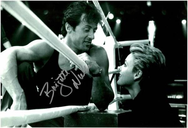 Brigitte Nielsen autograph Rocky photo 8×12