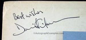 David Gilmour Autograph Examples | Pink Floyd Autographs