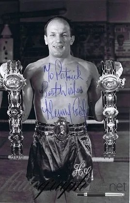 Sir Henry Cooper Autograph photo 7×5″