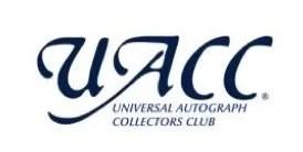 UACC Logo - Autograph Dealers UK