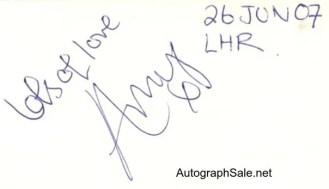 Authentic Amy Winehouse Autographs and memorabilia