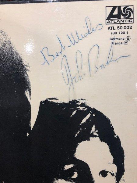 John Bonham Autographed led zeppelin album 1