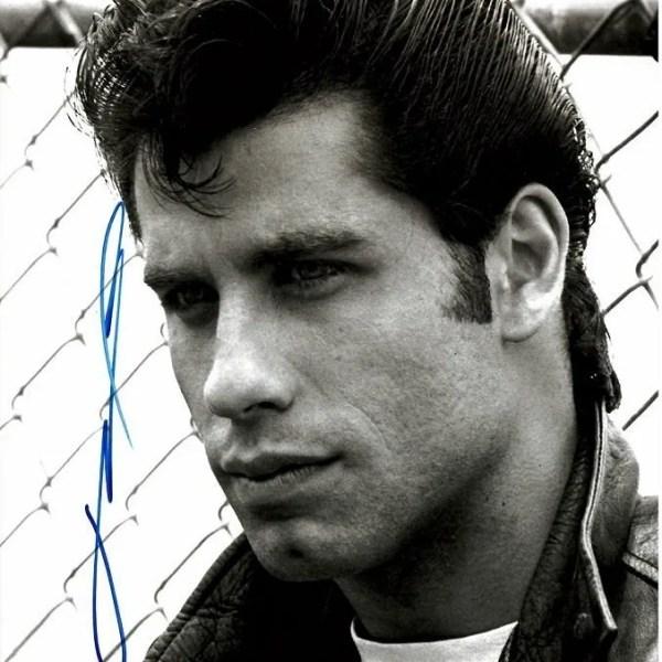 John Travolta Autograph from Grease 8×10 photo