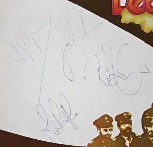 Led Zeppelin autographs 2 album