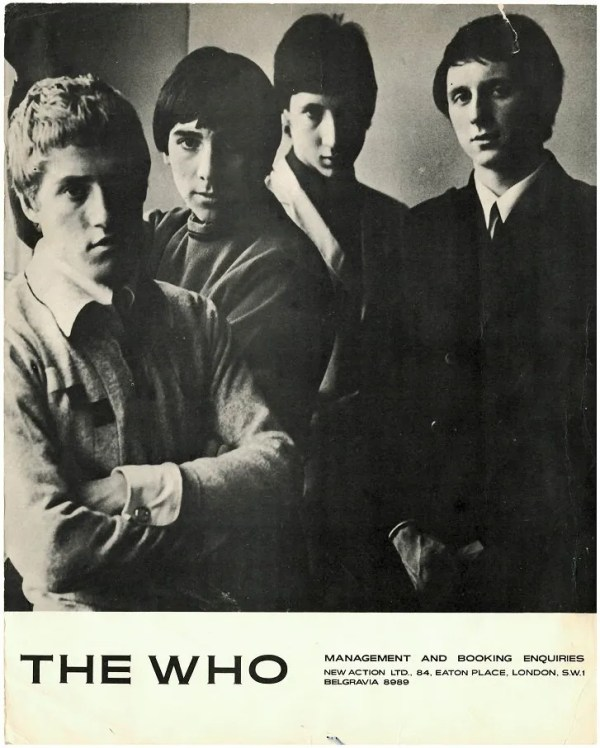 The Who signed autographs Pete Townshend, Keith Moon, Roger Daltrey