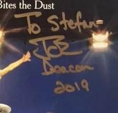 2019 autograph of John Deacon Queen