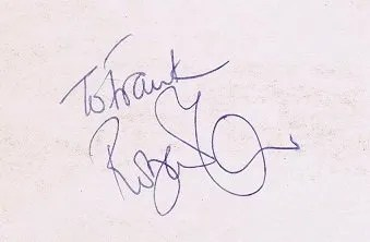 Robert Plant autographs Led Zeppelin