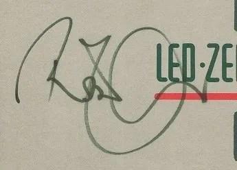 Robert Plant autographs Led Zeppelin late 80's