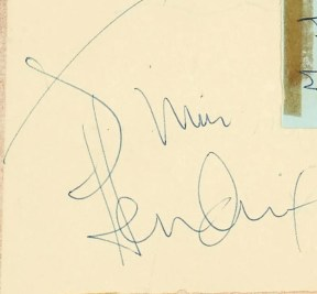 Jimi Hendrix autographs