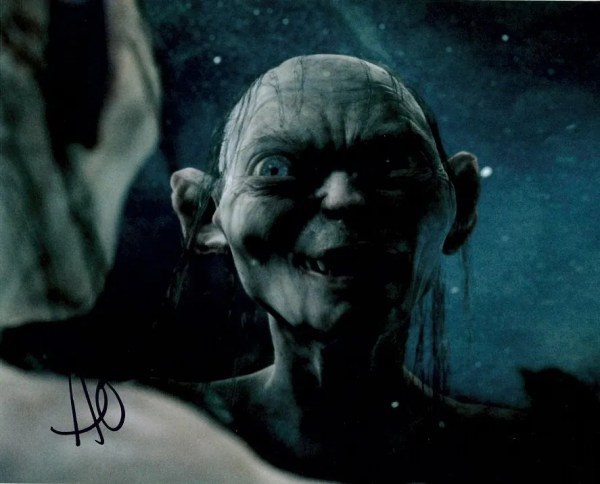 Andy Serkis Autograph Lord of the Rings Gollum Smeagol