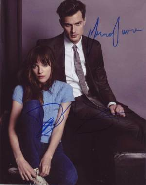 Fifty Shades of Grey In-person Autographed Cast Photo