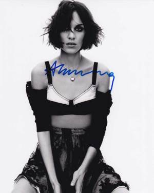 Alexa Chung in-person autographed photo