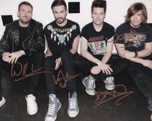 Bastille in-person autographed Group photo by all 4