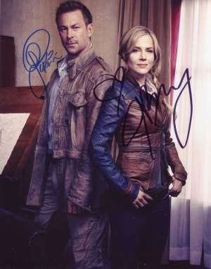Defiance In-person autographed Cast Photo