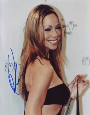Mariah Carey in-person autographed photo