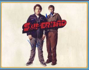 Superbad in-person autographed cast photo
