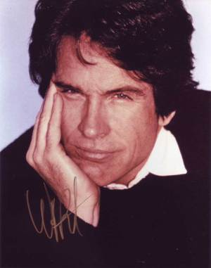 Warren Beatty in-person autographed photo