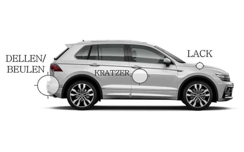 Autohaus Halstenberg - Serviceübersicht Dellen, Beulen, Kratzer im Lack