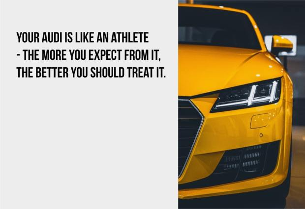 your audi is like an athlete