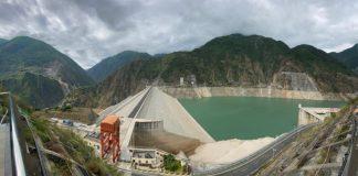 volvo Hydropower station dam in Chengdu